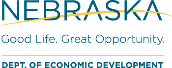 Nebraska Department of Economic Development logo, Good Life. Great Opportunity
