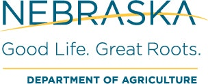 NE Department of Agriculture logo, Good Life. Great Roots.